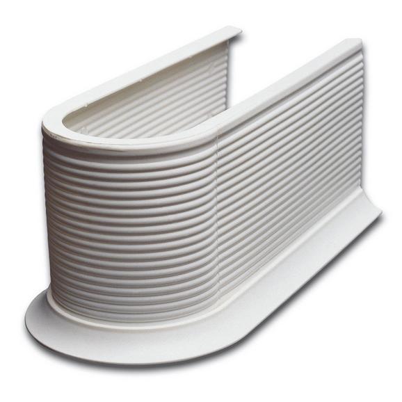 Mască Pentru Sifon Syphonmanschette - alb, Konventionell, plastic (13,2/11,5/26,5cm)