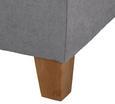 Boxspringbett Jerry 180x200cm inkl. Topper - Grau, MODERN, Holz/Textil (210/188/118cm) - MÖMAX modern living