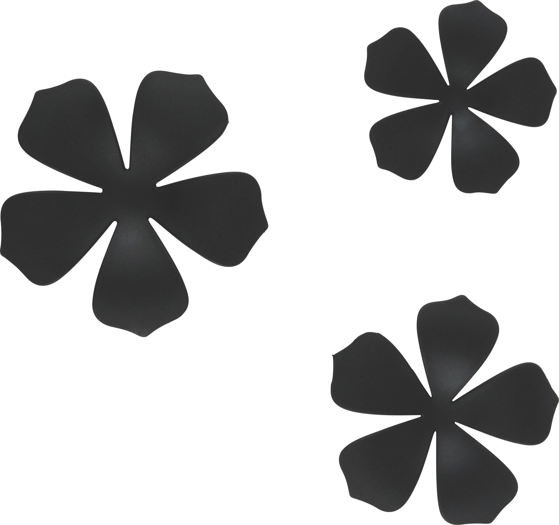 Wanddeko Flower in Schwarz - Schwarz, MODERN, Kunststoff (10,5/16,8cm) - MÖMAX modern living