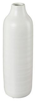 Dekovase Presence Weiß 9x24 cm - Weiß, LIFESTYLE, Keramik (9/24cm)