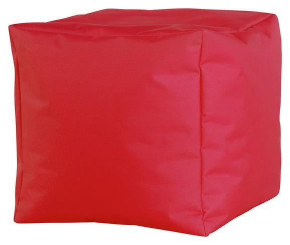 Tabure Cube Xl -sb- - rdeča, Moderno, tekstil (50/50/50cm) - Mömax modern living
