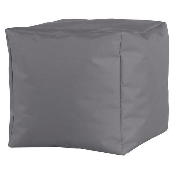 Tabure Cube Xl -sb- - siva, Moderno, tekstil (50/50/50cm) - Mömax modern living