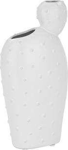Vase Arizona aus Keramik in Weiß - Weiß, LIFESTYLE, Keramik (12/7,5/25cm)