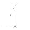 Stehleuchte Marco mit LED - Nickelfarben, MODERN, Glas/Kunststoff (23/23/180cm) - Bessagi Home