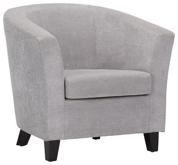 Fotelj Enya - črna/siva, Moderno, tekstil/les (77/70/68cm) - Modern Living
