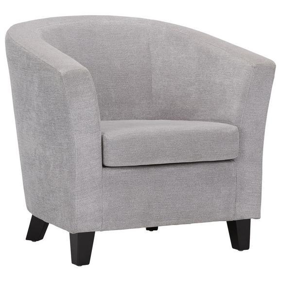 Fotelj Enya - siva/črna, Moderno, tekstil/les (77/70/68cm) - Modern Living
