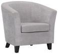 Fotelja Enya - siva/crna, MODERN, drvo/tekstil (77/70/68cm) - Modern Living