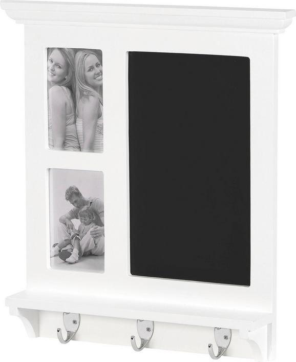 Kreidetafel Avignon in Schwarz/Weiß - Schwarz/Weiß, ROMANTIK / LANDHAUS, Holzwerkstoff/Kunststoff (42/45/7cm) - MÖMAX modern living