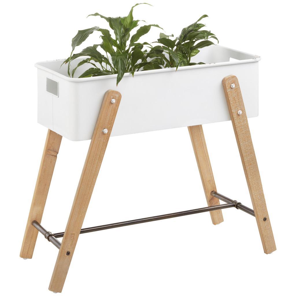 Aufbewahrungsbox Weiß/Braun