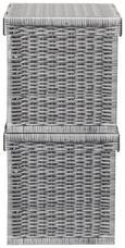 Box mit Deckel Jimmy Grau - Grau, Karton (31/31/31cm) - Mömax modern living
