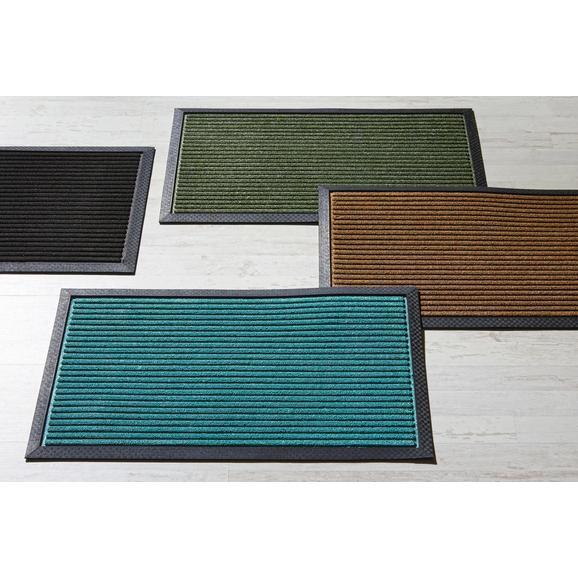 Fußmatte Ingo ca. 40x60cm - Türkis/Schwarz, MODERN, Kunststoff (40/60cm) - Mömax modern living