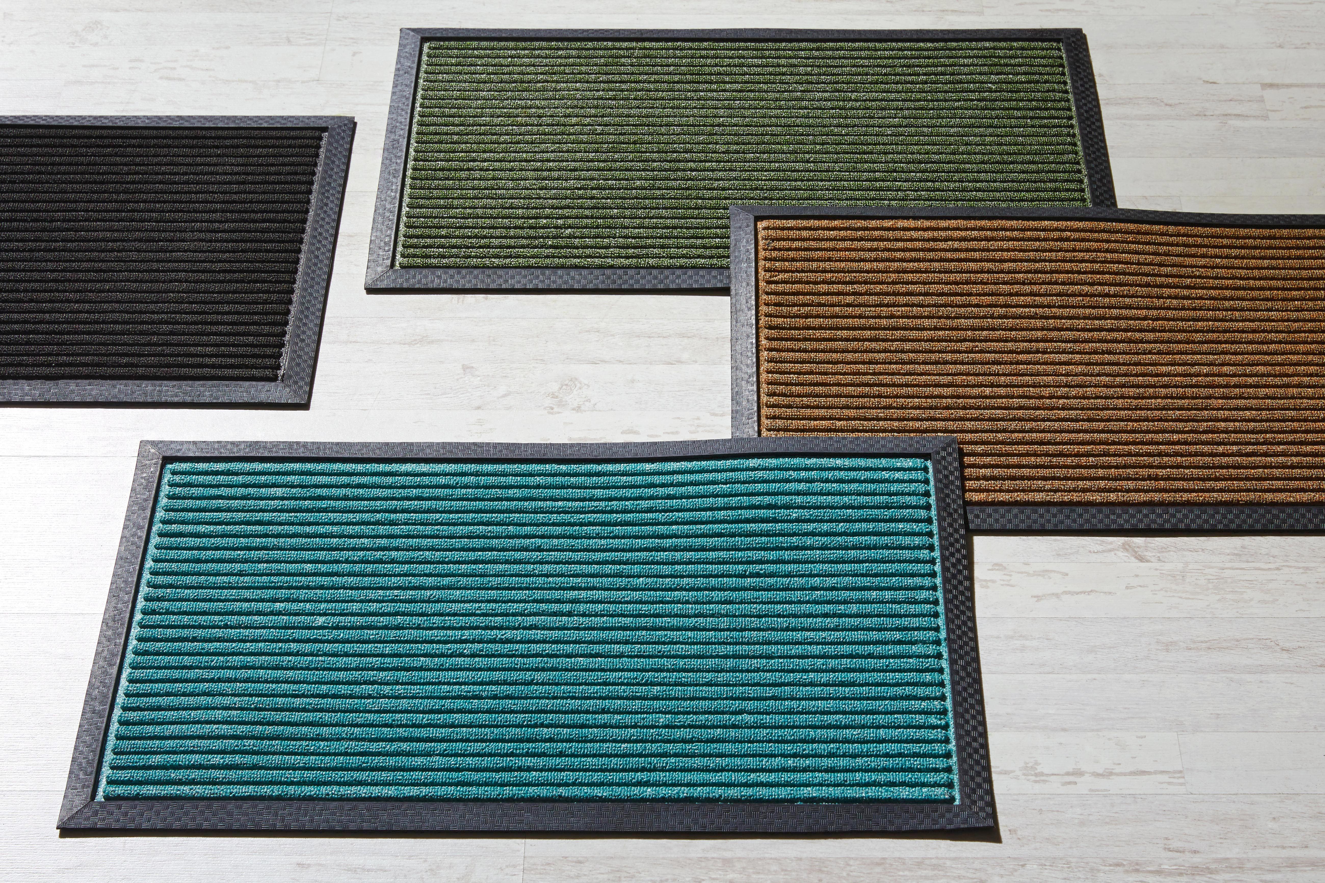 Fußmatte Ingo, ca. 45x75cm - Türkis/Schwarz, MODERN, Kunststoff (45/75cm) - MÖMAX modern living