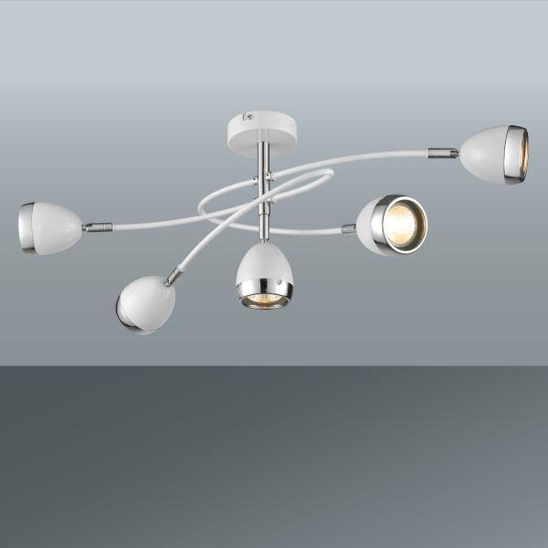 Mennyezeti Lámpa Nantes - krómszínű/fehér, Lifestyle, műanyag/fém (65,5/26,5cm) - MÖMAX modern living