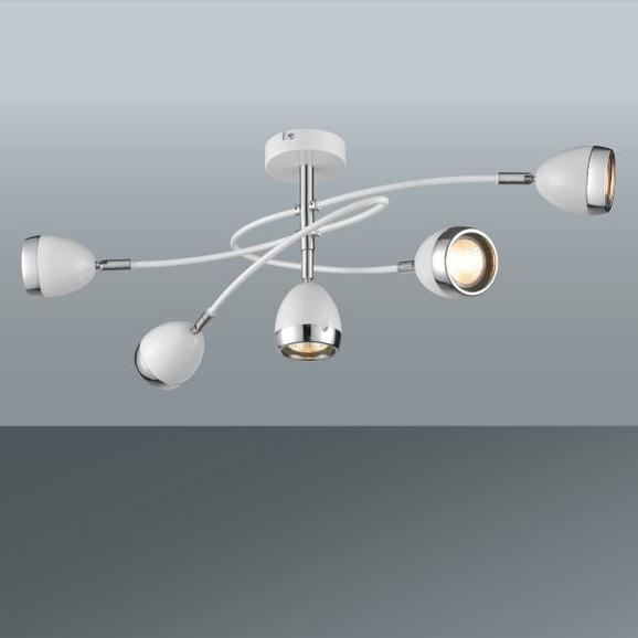 Stropna Led-svetilka Nantes - bela/krom, Trendi, kovina/umetna masa (65,5/26,5cm) - Mömax modern living
