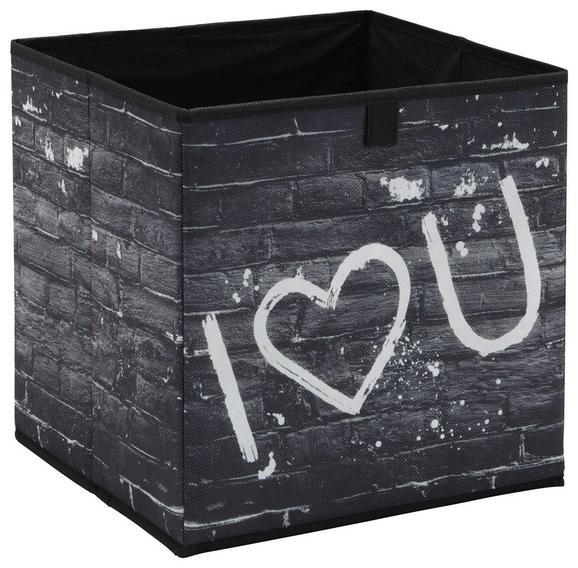 Škatla Za Shranjevanje Poppi 1 -based/sb- - črna/bela, Moderno, karton/tekstil (32/32/32cm) - Mömax modern living