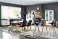 Stol Durham - črna/hrast, Moderno, tekstil/les (45/91/58,5cm) - Premium Living