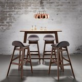 Barhocker Enzo - Braun/Grau, MODERN, Holz/Textil (47/88/51cm) - MÖMAX modern living