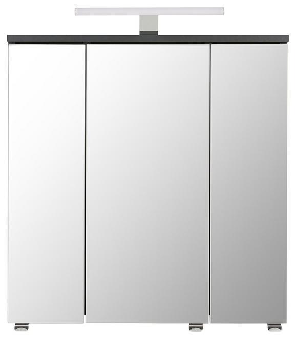 Omara Z Ogledalom Garziello - antracit, Moderno, steklo/leseni material (60/62/21cm) - MÖMAX modern living