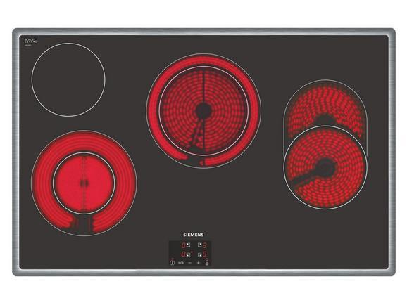 Glaskeramikkochfeld Siemens Et845hh17, 4 Kochzonen - KONVENTIONELL, Glas/Metall (79,5/4,8/51,7cm) - Siemens
