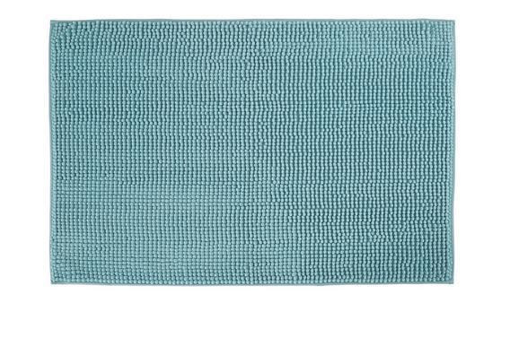 Badematte Nelly ca. 60x90cm - Türkis, Textil (60/90cm) - MÖMAX modern living