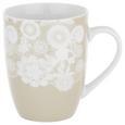 Kaffeebecher Lacey Grau - Grau, ROMANTIK / LANDHAUS, Keramik (8,5/10,3cm) - Mömax modern living