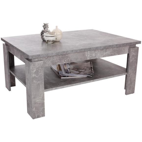 Klubska Miza Nizza 2 - svetlo siva, Moderno, leseni material (100/45/60cm)