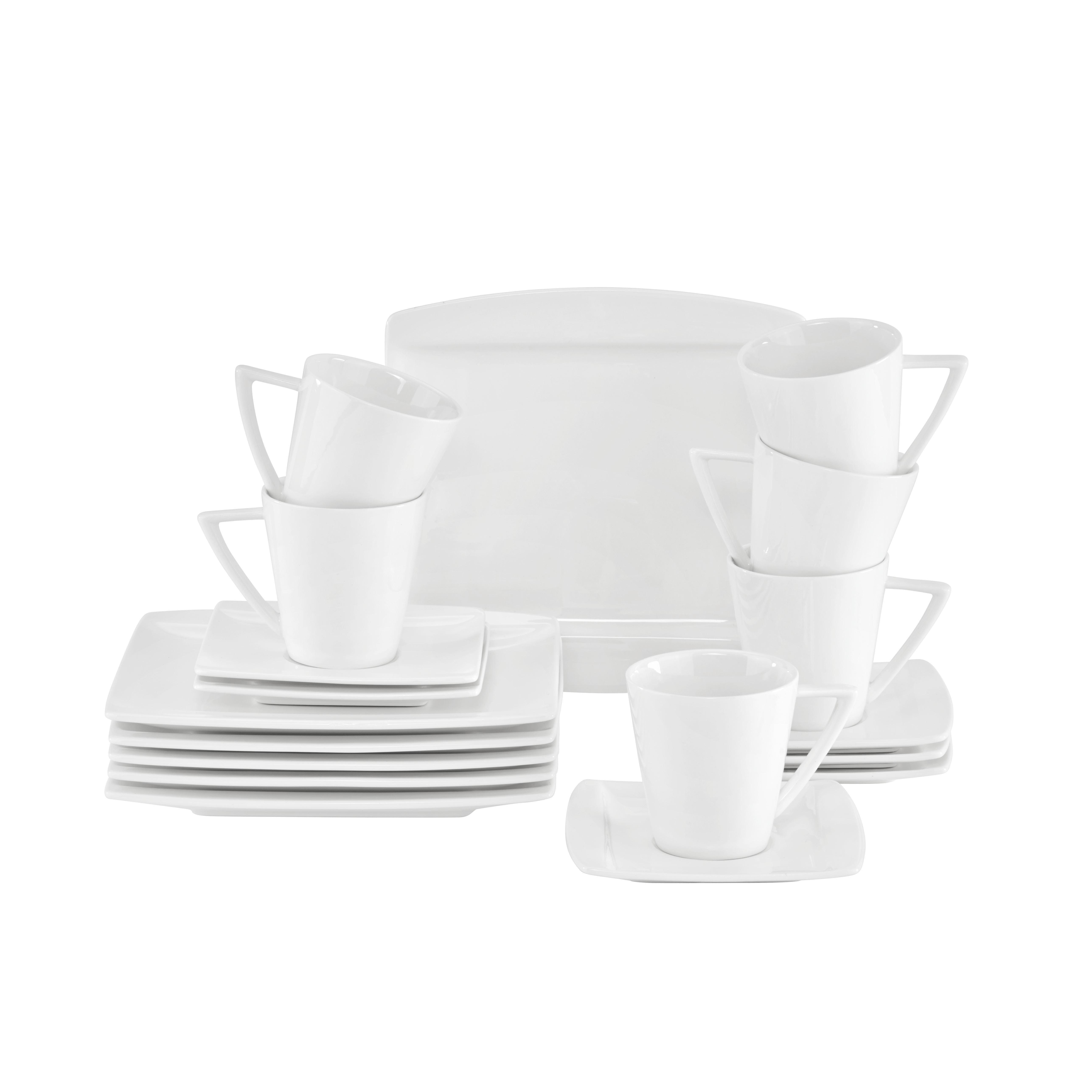 Dessertteller Pura in Weiß - Weiß, LIFESTYLE, Keramik (20/20cm) - MÖMAX modern living