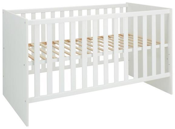 Gitterbett in Weiß, ca. 70x140cm. - Weiß, KONVENTIONELL, Holzwerkstoff (78/93/144cm) - Premium Living