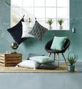 Okrasna Blazina Steven - zelena, tekstil (45/45cm) - Mömax modern living