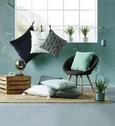 Okrasna Blazina Zippmex -based- - svetlo zelena, tekstil (50/50cm) - Based