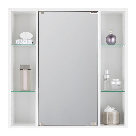 Omara Z Ogledalom Trend 65 - bela, steklo/les (65/65/20cm) - Mömax modern living