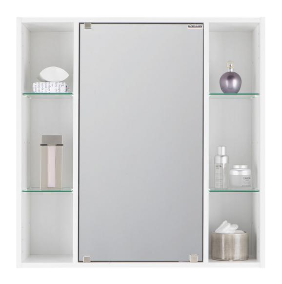Spiegelschrank in Weiß mit Spiegeltür - Weiß, Glas/Holz (65/65/20cm) - MÖMAX modern living