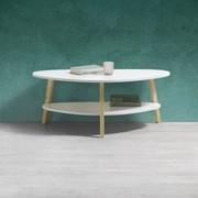 Couchtisch Enno 92x50 cm - Naturfarben/Weiß, MODERN, Holz (92/50/37cm) - Modern Living