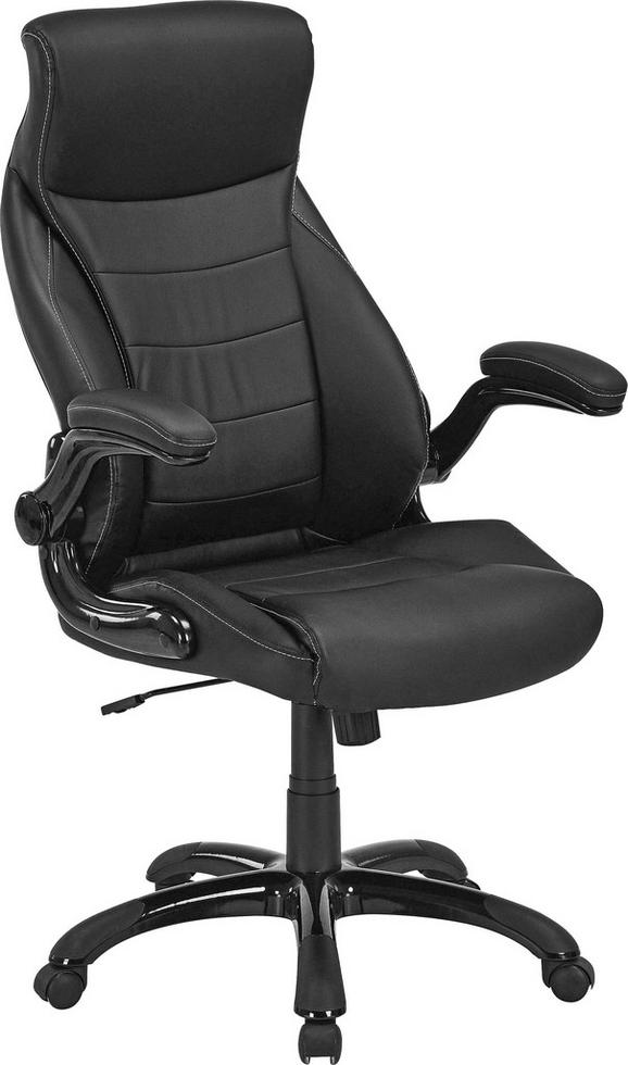 Főnöki Szék Orlando - fekete, modern, műanyag/textil (71/114-124/72cm)