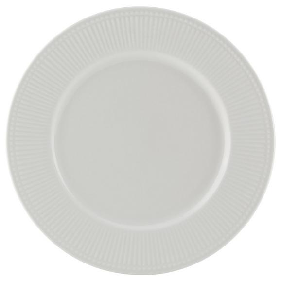 Plitvi Krožnik Celina - bela, Romantika, keramika (26/2cm)