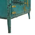 Kommode In Vintage Türkis - Türkis/Goldfarben, LIFESTYLE, Holz/Metall (82/57,5/43cm) - Premium Living