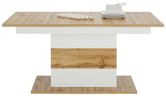 Esstisch in Weiß/Eichefarben - Eichefarben/Weiß, MODERN, Holzwerkstoff (160/75/90cm) - MÖMAX modern living