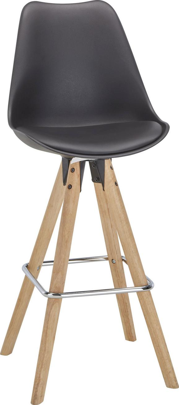 Barski Stol Durham - črna/rjava, Moderno, kovina/umetna masa (48,5/111,5/55cm) - Zandiara