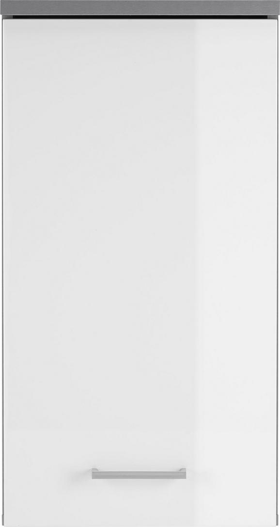 Zgornja Omara Roy - bela/srebrna, Moderno, umetna masa/leseni material (40/77/23cm) - Mömax modern living