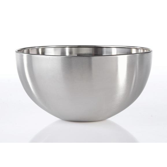 Schüssel Vinzenz Ø ca. 19,5cm - Edelstahlfarben, MODERN, Metall (19,5/9,5cm) - Mömax modern living