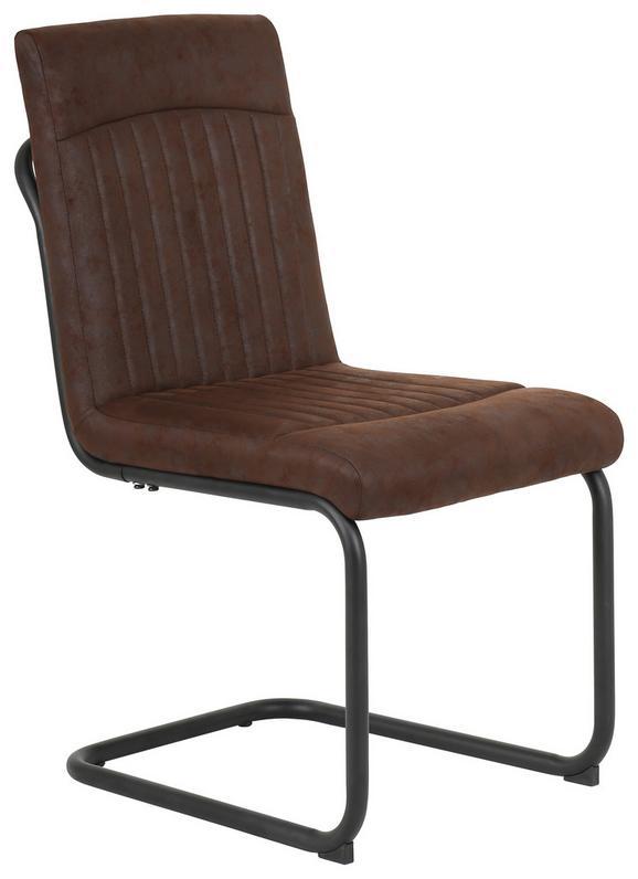 Schwingstuhl Braun/Schwarz - Schwarz/Braun, LIFESTYLE, Textil/Metall (46/89,5/58,5cm) - Mömax modern living