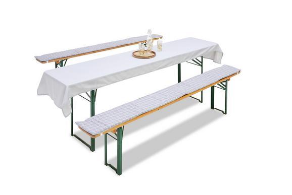 Bierbankauflage Greyson Weiß/Grau - Weiß/Grau, LIFESTYLE, Textil (25/220cm) - Mömax modern living