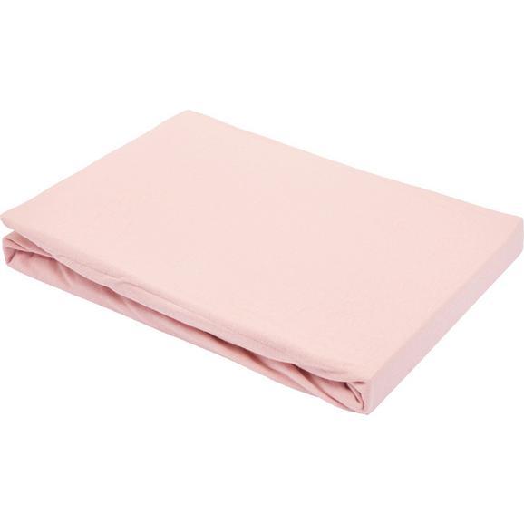 Spannbetttuch Basic in Rosa ca. 100x200cm - Rosa, Textil (100/200cm) - Mömax modern living