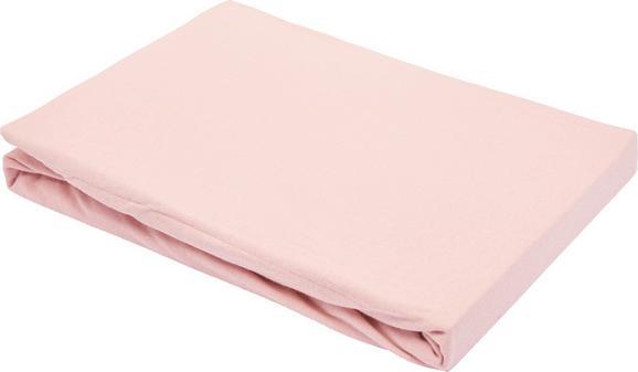 Spannleintuch Basic in Rosa, ca. 100x200cm - Rosa, Textil (100/200cm) - Mömax modern living