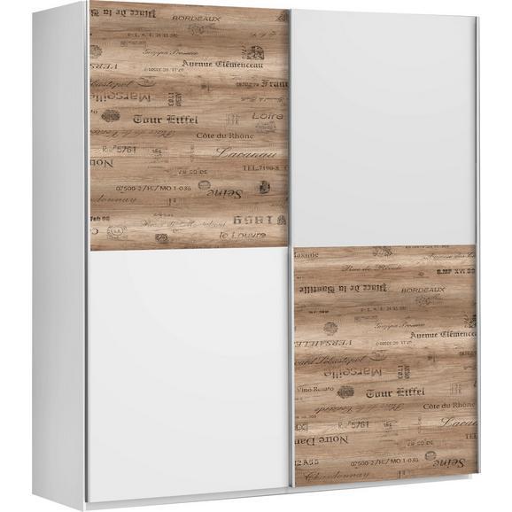 Schiebetürenschrank in Eichefarben - Eichefarben/Alufarben, LIFESTYLE, Holzwerkstoff/Kunststoff (170/191/61cm) - Modern Living
