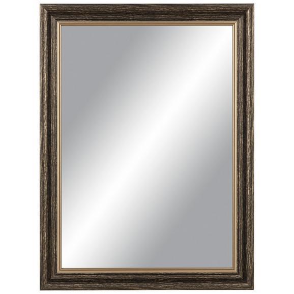 Stensko Ogledalo Ella - zlata/rjava, Moderno, steklo/leseni material (45/60cm) - Mömax modern living