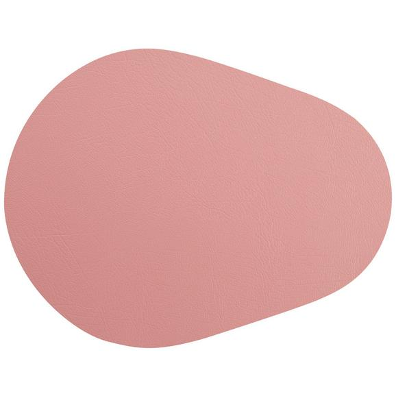 Tischset Jette aus Leder in Rosa - Rosa, Leder (45/35cm) - Premium Living