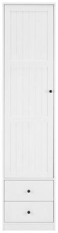 Kleiderschrank Weiß - Dunkelbraun/Weiß, ROMANTIK / LANDHAUS, Holz (51,6/218/60cm) - Modern Living