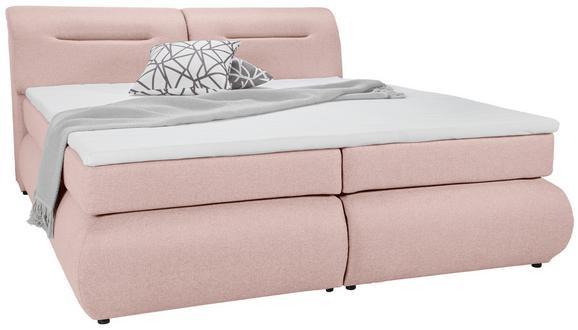 Boxspringbett Altrosa 160x200cm - Altrosa/Schwarz, Kunststoff/Textil (240/170/100cm) - Premium Living
