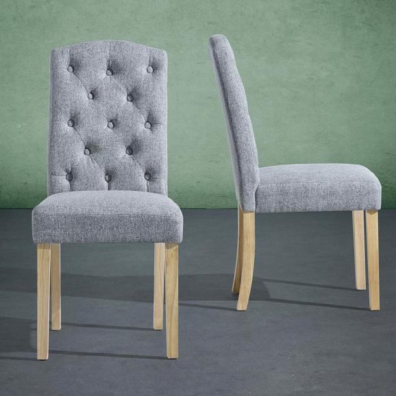 Stuhl Rita - Dunkelgrau, MODERN, Holz/Textil (47/99/62,5cm) - Bessagi Home